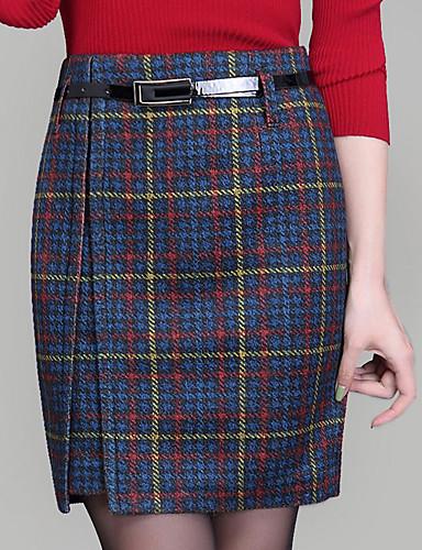 Women's Plus Size Bodycon Skirts - Geometric