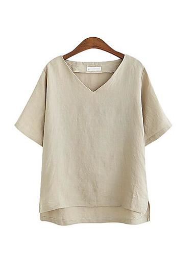 V-alakú Női Póló - Egyszínű
