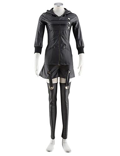 levne Cosplay a kostýmy-Inspirovaný Tokyo Ghoul Kirishima Touka Anime Cosplay kostýmy Cosplay šaty Jednobarevné Kabát / Sukně Pro Pánské