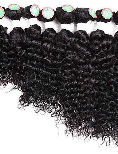 baratos Liquidação-8 pacotes Cabelo Brasileiro Clássico Onda Profunda 10A Cabelo Natural Remy Âmbar 8-14 polegada Preta Âmbar Tramas de cabelo humano Venda imperdível Extensões de cabelo humano