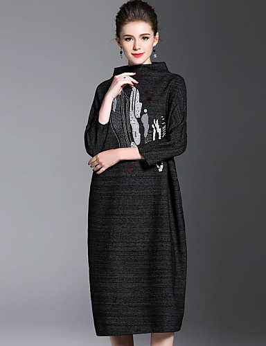 Womens Daily Going Out Dresses Fashion Loose Loose Dress