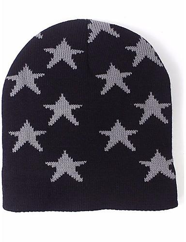 Women's Hat Sweater Ski Hat Print Jacquard
