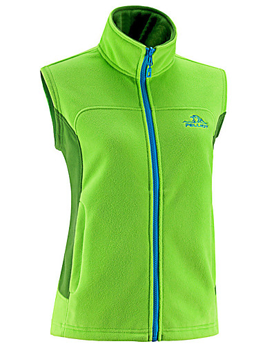 cheap Outdoor Clothing-Women's Hiking Vest Outdoor Winter Windproof Warm Thick Vest / Gilet Fleece Full Length Visible Zipper Camping / Hiking Camping Camping / Hiking / Caving Fuchsia / Sky Blue / Green