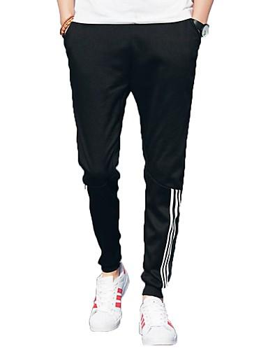 Men's Active Plus Size Cotton Harem / Sweatpants Pants - Solid Colored Black XL / Fall