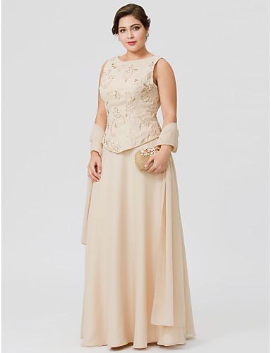 c4752aa788 Corte en A Joya Hasta el Suelo Raso Vestido de Madrina con Cuentas    Bordados   Detalles con Perlas por LAN TING BRIDE®   Bolero incluido