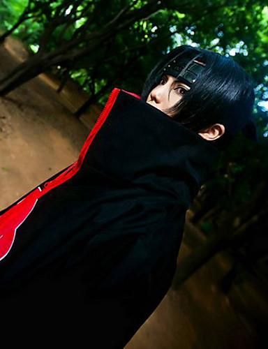 halpa Anime-peruukit-Naruto Itachi Uchiha Miesten 32 inch Heat Resistant Fiber Musta Anime Cosplay-Peruukit