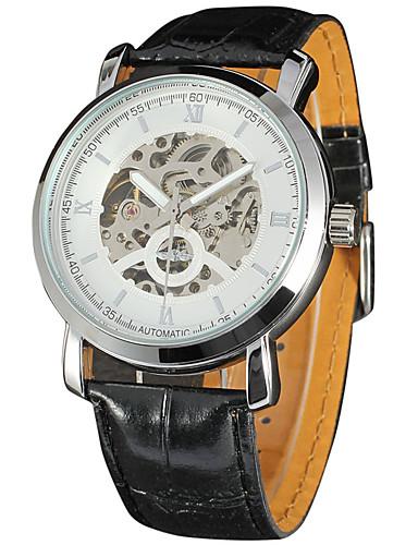 WINNER Męskie Nakręcanie automatyczne Zegarek na nadgarstek Gorąca wyprzedaż Skóra Pasmo Na co dzień Modny Nowoczesne