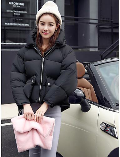 Damen Gefüttert Mantel Freizeit Alltag Ausgehen Druck-Baumwolle Langarm