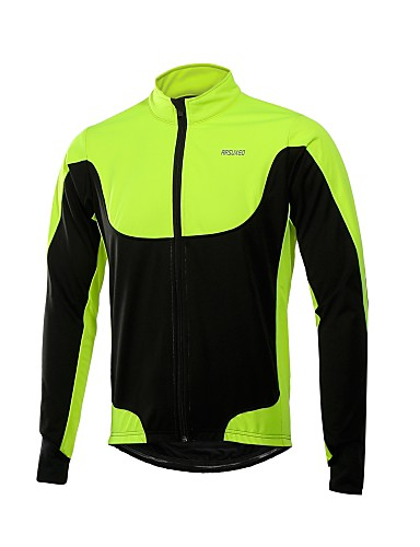 cheap Cycling Clothing-Arsuxeo Men's Cycling Jacket Bike Winter Fleece Jacket Windproof Sports Polyester Fleece Winter Red / Green / Blue Road Bike Cycling Clothing Apparel Relaxed Fit Bike Wear / Stretchy