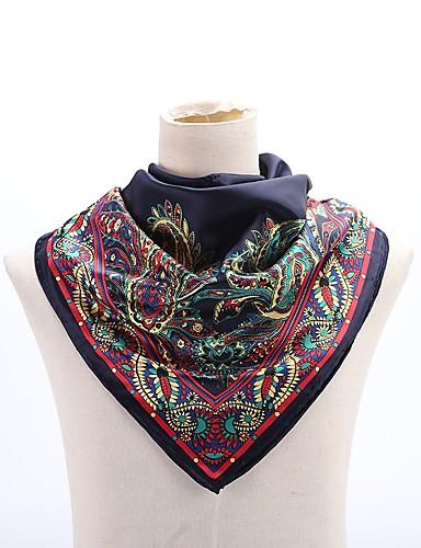 Damen Kunstseide Quadratisch / Hidschab Bemalt
