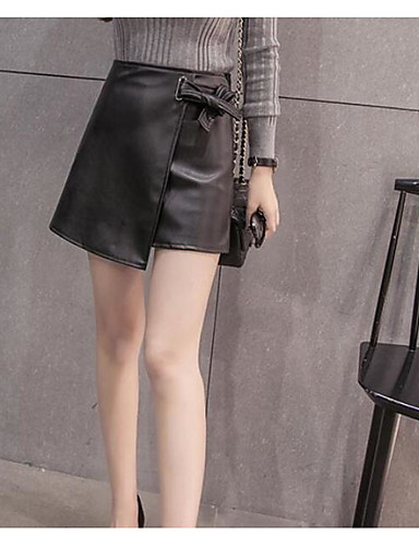 Damen Über dem Knie Röcke A-Linie