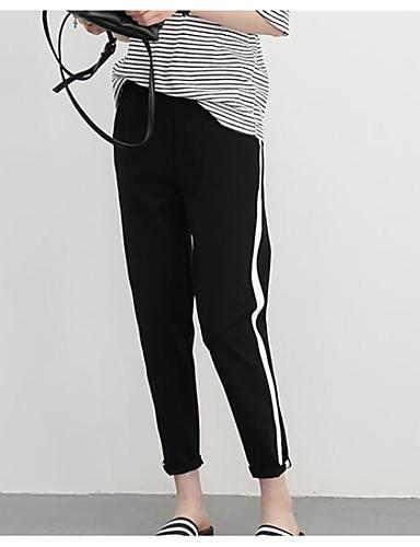 Damen Hose Mikro-elastisch Jogginghose Hose Solide