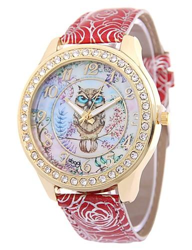 Damskie Kwarcowy Sztuczny Diamant Zegarek Zegarek na nadgarstek Chiński sztuczna Diament PU Pasmo Kwiat Vintage Na co dzień Artystyczny