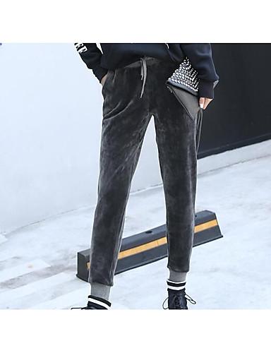 Damen Hose Mikro-elastisch Eng Hose Solide