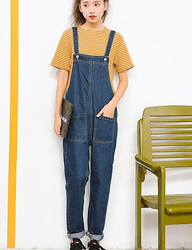 d14678837e Women s Pants Jeans   Overalls Pants - Solid Colored White M   Going ...