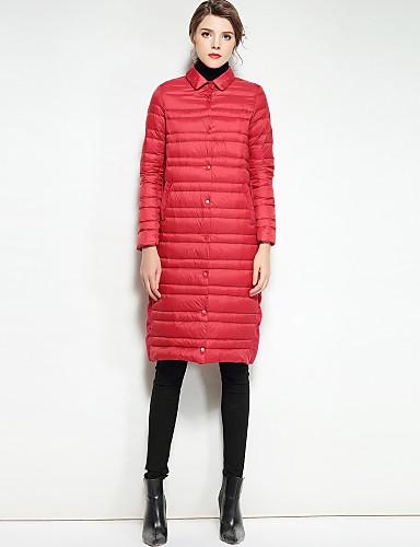Damskie Urocza Moda miejska Odzież puchowa Jendolity kolor