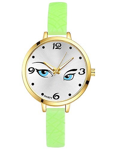 Damskie Kwarcowy Zegarek na nadgarstek Chiński Duża tarcza Żel krzemionkowy Pasmo Na co dzień Kolorowy Elegancki Czarny Biały Niebieski