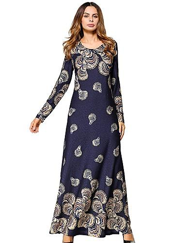 hesapli Maksi Elbiseler-Kadın's Salaş Tunik Elbise - Solid Çiçekli Maksi