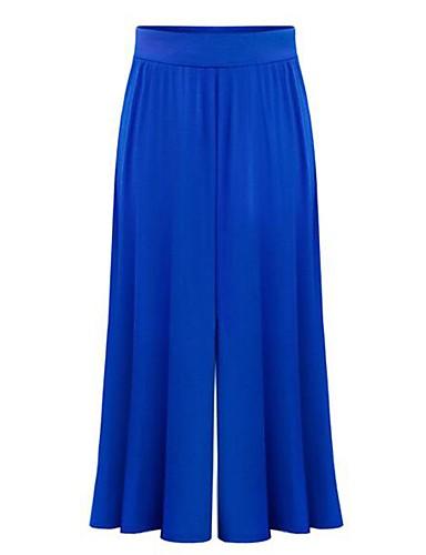 Damskie Vintage Rozmiar plus Luźna Spodnie szerokie nogawki Spodnie Jendolity kolor Wysoki stan