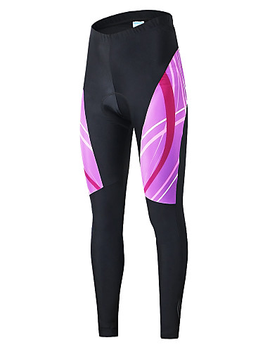 cheap Cycling Clothing-Arsuxeo Women's Cycling Tights Bike Pants Bottoms Quick Dry Sports Polyester Elastane Violet Road Bike Cycling Clothing Apparel Relaxed Fit Bike Wear / High Elasticity