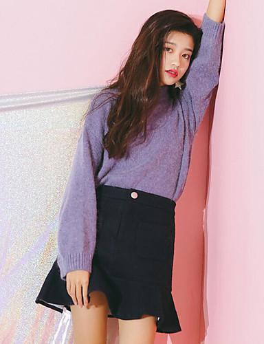 Damen Arbeit Schule Lässig/Alltäglich Mini Röcke einfarbig Herbst