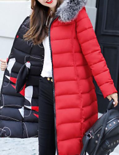 Damen Gefüttert Mantel Einfach Ausgehen Lässig/Alltäglich Solide-Andere Langarm