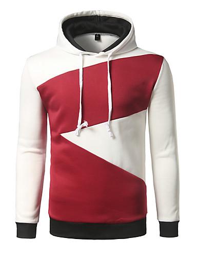 Męskie Sport Bluza z Kapturem - Jendolity kolor, Nadruk Kaptur
