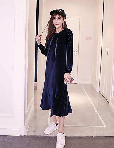 Damen Trompete / Meerjungfrau Kleid Solide Maxi