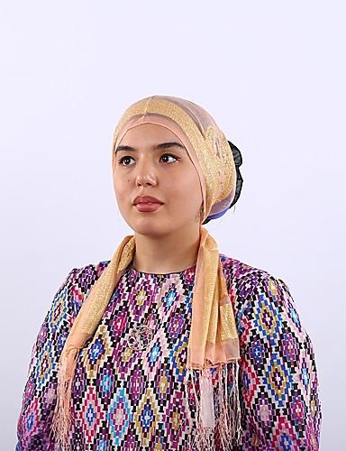 Damen Kunstseide Hidschab Gestreift