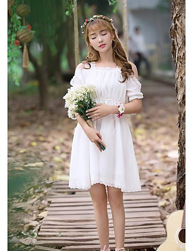 Damen Hülle Kleid-Ausgehen Lässig/Alltäglich Solide Gurt Knielang Ärmellos Seide Baumwolle Mittlere Taillenlinie Unelastisch Transparent