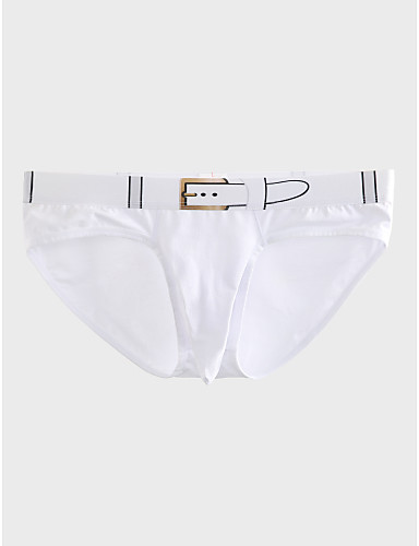 Men's Super Sexy Briefs Underwear Solid Colored 1 Piece Mid Waist