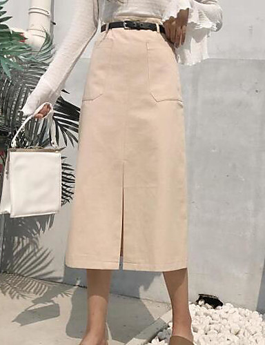 Damen Midi Röcke A-Linie