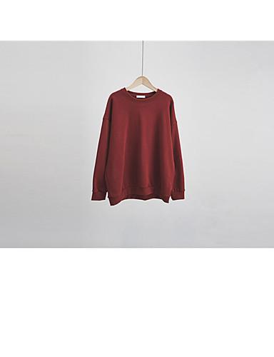 Damen Kapuzenshirt Lässig/Alltäglich Solide Baumwolle