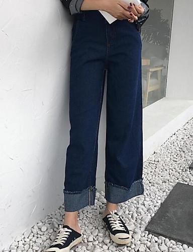 Damen Freizeit Breites Bein Hose Solide