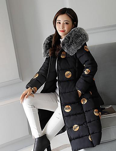Damen Gefüttert Mantel Freizeit Alltag Ausgehen camuflaje-Polyester Langarm