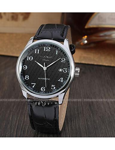 WINNER Męskie Nakręcanie automatyczne Zegarek na nadgarstek Kalendarz Skóra Pasmo Vintage Na co dzień Do sukni / garnituru Modny Czarny