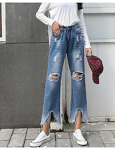 Damen Sexy Mikro-elastisch Jeans Hose Solide