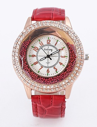 Damskie Dla par Kwarcowy Zegarek na nadgarstek Chiński Na codzień Stop Pasmo Kwiat Na co dzień Modny Nowoczesne Czarny Biały Czerwony