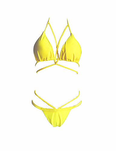 47117427d Mujer Halter Fucsia Wine Verde Ejército Bikini Bañadores - Un Color M L XL  Fucsia