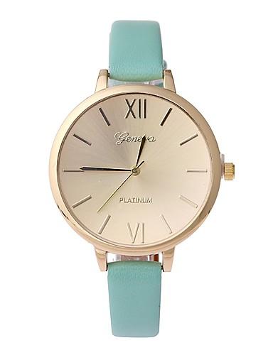 NAVIFORCE Damskie Kwarcowy Zegarek na nadgarstek Chiński Na codzień PU Pasmo Minimalistyczny Modny Czarny Zielnony Różowy Beżowy