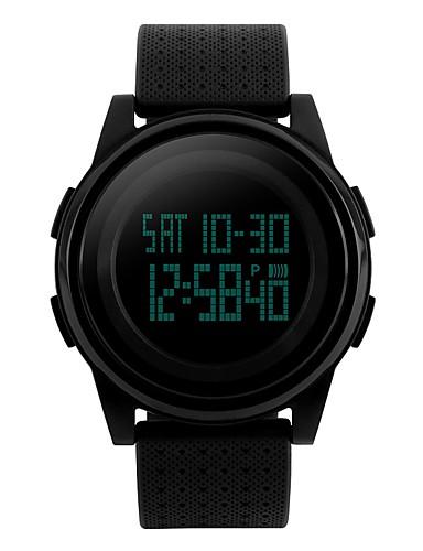 5d233952f SKMEI Women's Sport Watch Digital Quilted PU Leather Black / White / Blue  50 m Water Resistant / Waterproof Calendar / date / day Chronograph Digital  Luxury ...