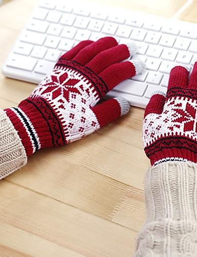 Dla obu płci Do biura Na co dzień Do nadgarstka Koniuszki palców Rękawiczki Płatek śniegu