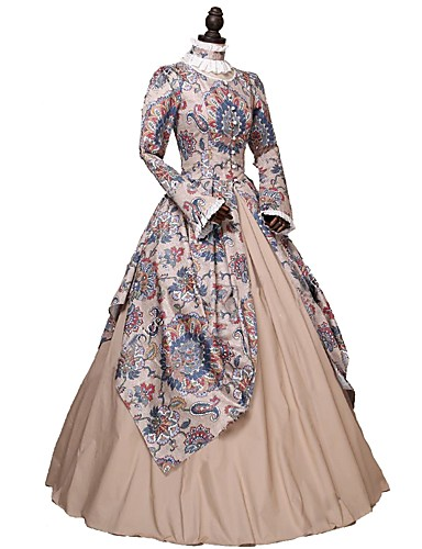 cc96e2aff Dress Party Costume Masquerade Rococo Victorian 18th Century Costume  Rainbow Vintage Cosplay Long Sleeve Ankle Length Ball Gown / Floral
