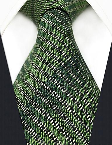 גברים של המפלגה עבודה rayon עניבה - מוצק בצבע מפוספס Jacquard