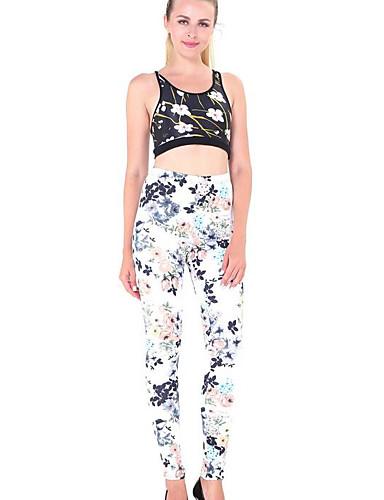 מכנסיים - דפוס סקיני יום יומי בגדי ריקוד נשים