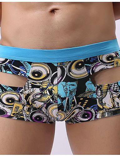 בגדי ריקוד גברים גיאומטרי - סקסית בוקסר / תחתונים מותן בינוני