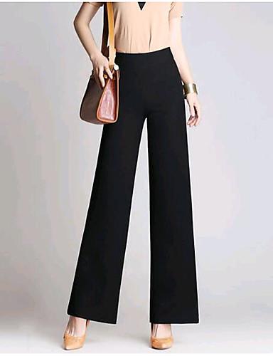 בגדי ריקוד נשים כותנה צ'ינו מכנסיים אחיד / חורף