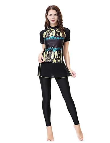 קולור בלוק טנקיני קולר בסיסי / בוהו בגדי ריקוד נשים