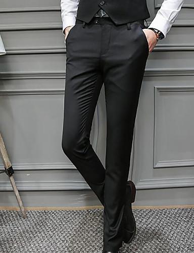 בגדי ריקוד גברים כותנה Business מכנסיים אחיד