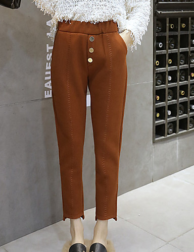 בגדי ריקוד נשים כותנה סקיני מכנסיים אחיד